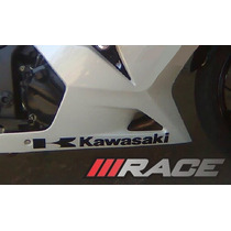 Par De Adesivos Kawasaki -carenagem Inferior-moto-ninja 250r