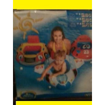 Boia Bote Inflável Formato De Carro P/criança De 1 À 2 Anos