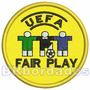 Tpc105 Fair Play Uefa Euro 2004 7,5 Cm Futebol Patch Bordado