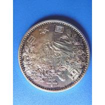 Japao-moeda Prata-1000 Yens-olimpiada Tokio-1964-perfeita