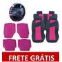 Kit Rosa Pink: Tapetes +capas De Banco +volante Frete Grátis