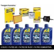 Kit Troca De Óleo E Filtros Top Duster Megane Scenic 1.6 16v