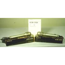 Microfones Sony Ecm 210a - Bom Estado