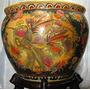 Vaso/cachepot Em Porcelana Chinesa Pintura Á Mão Altura34cm