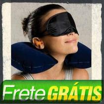 Almofada Travesseiro De Pescoço + Máscara + Protetor Ouvido
