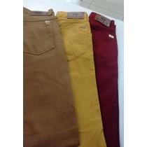 Calça Masculina Skinny Sarja Color Slim Excelente Qualidade