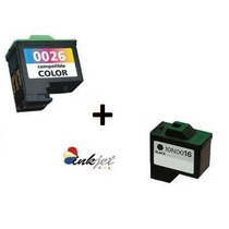 Kit Cartucho 16 Preto E 26 Colorido Para Lexmark X1185 X1195
