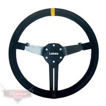 Volante Esportivo Lotse Rg-t Haste Aluminio Revest. Camurça