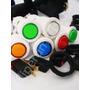 Kit Arcade 10 Botões Acrílico Corpo Branco Com Micros/roscas