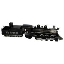 Locomotiva Rio Grande Modelo Antigo Lata Coleções Trem Minas