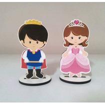 10 Mini Totens Príncipe Ou Princesa Em Mdf