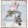 Placa De Metal Flowers Oldway