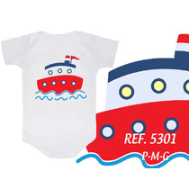 Body Infantil Barco Marinheiro Navio Engraçado Divertido Boy