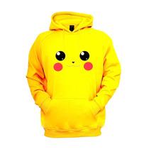 Pikachu Moletom Blusa De Frio Canguru Com Capuz