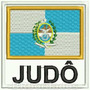 Patch Bordado Bbr148 Judô Bandeira Rio De Janeiro Arte Marci