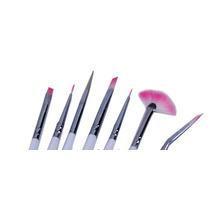 Kit Com 7 Pinceis Para Unhas ( Nail Art ) Pronta Entrega!