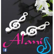 Pingente Clave De Sol Prata Kit C/ 10 - Alanis Mania Musical