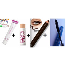 Kit Make Primer Facial + Base + Lápis + Rimel - Imperdível