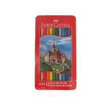 Faber-castell Ecolápis De Cor 12 Cores Vivas -estojo De Lata