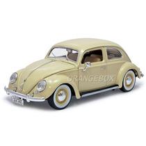 Volkswagen Fusca 1955 1:18 Bburago 12029-bege