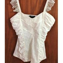 Blusa Branca Detalhes Renda Tamanho G - Comprada Eua