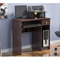 Mesa Escrivaninha Com Gaveta Para Computador Cor Tabaco