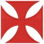 Patch Bordado Cruz De Malta Pátea Vasco Antigo Escudo