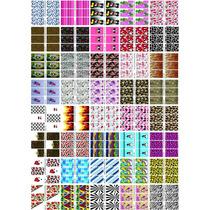 Cartelão P40 Cartelas 200 Adesivos Unhas Peliculas Infantil