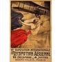 Avião Mulher Exposição Paris Poster Repro