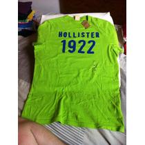 Camiseta Masculina Hollister Verde X/l (gg) Otiginal Eua