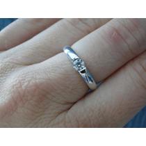 Ivi1388 =anel Solitário Vivara O.branco 18k ! Diamante !
