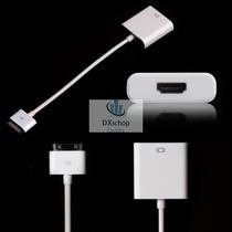 Adaptador Dock Conector Hdmi Para Ipad 2 E 3 E Iphone 4g