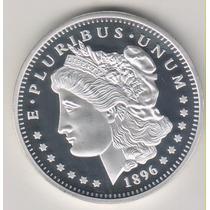 Moeda/medalha 1896 One Dollar 29 Gr Banho Prata 999 28,00