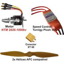Combo Brushless Ntm 2826-1000kv - Aeros Até 750grs