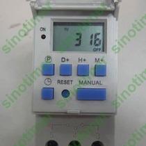 Timer Temporizador Digital Trilho 220v E 12v