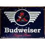 12376- Cerveja Placa Decorativa De Metal Nova Bar Budweiser