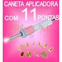 Caneta Aplicadora 11 Pontas Strass Hotfix P/ Jeans, Mdf Etc