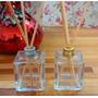 10 Frascos Vidro Aromatizadores Cubo 50 Ml Difusor