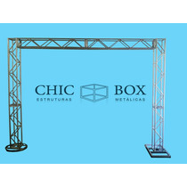 Box Truss Treliça Kit Trave Q20 - 2,5 X 3 Chicboxestruturas
