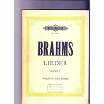 Livro Brahms Lieder Band L A Edition Peters Nr. 3201 A Ópera