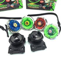 Kit Completo 4 Beyblades Com Luz + 2 Lançadores Importado