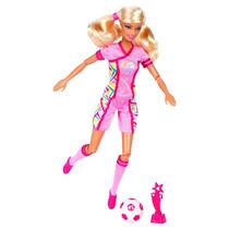 Boneca Barbie Quero Ser Jogadora De Futebol Mattel Bebe