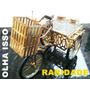 Bicicleta Triciclo Raridade Antigo Foliado Ouro Decoração