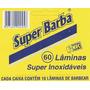 Lamina De Barbear Super Barba Cartela Com 60 Unid