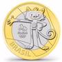 L1426 - 4 Moedas De R$ 1,00 -4o./último Lote Olimpíadas 2016