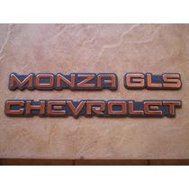 Kit Emblema Monza + Gl Ou Gls + Chevrolet 91 A 94