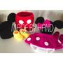 Casal Minnie E Mickey 7 Peças Croche Newborn Bebê Foto Prop