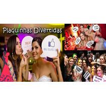 Plaquinhas Divertidas Para Casamento Kit 20 Plaquinhas
