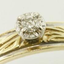 Solitário Ouro Amarelo 18 Quilates!com Diamante De 3 Pontos