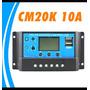 Lcd Controlador De Carga Usb 10a 12v/24v Pwm Carregador